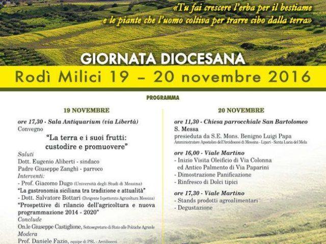 Giornata Nazionale del Ringraziamento nella Diocesi di Messina